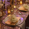 Glass Charger Plates available in Gold and Silver