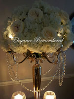Gold tall Candelabra with Flower Bowl