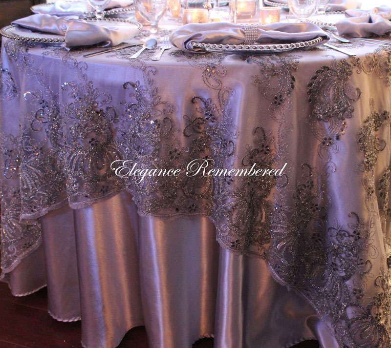 Italian Princess Lace Tablecloth Overlay