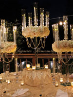 Modern Crystal Candelabras with flowers