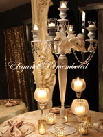 "40"" Tall White Candelabra"